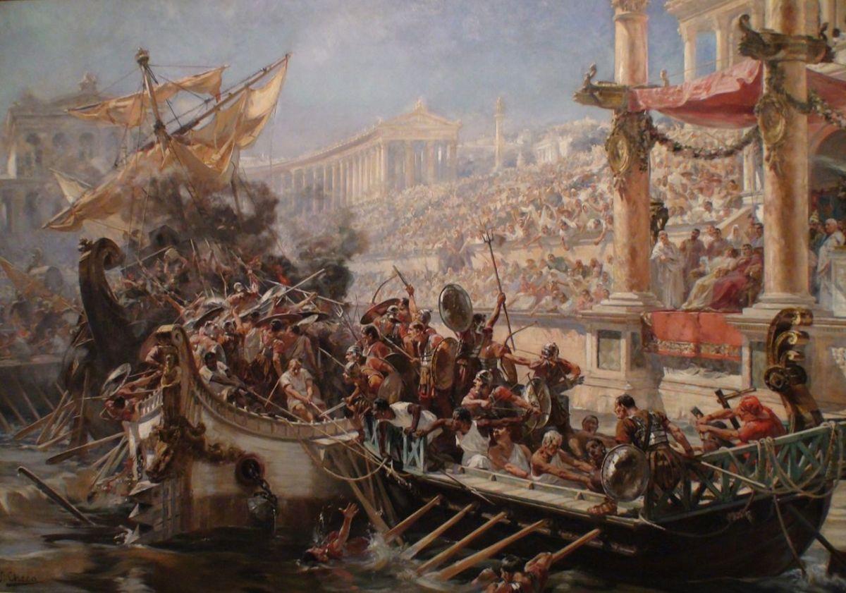 Las batallas navales del Coliseum