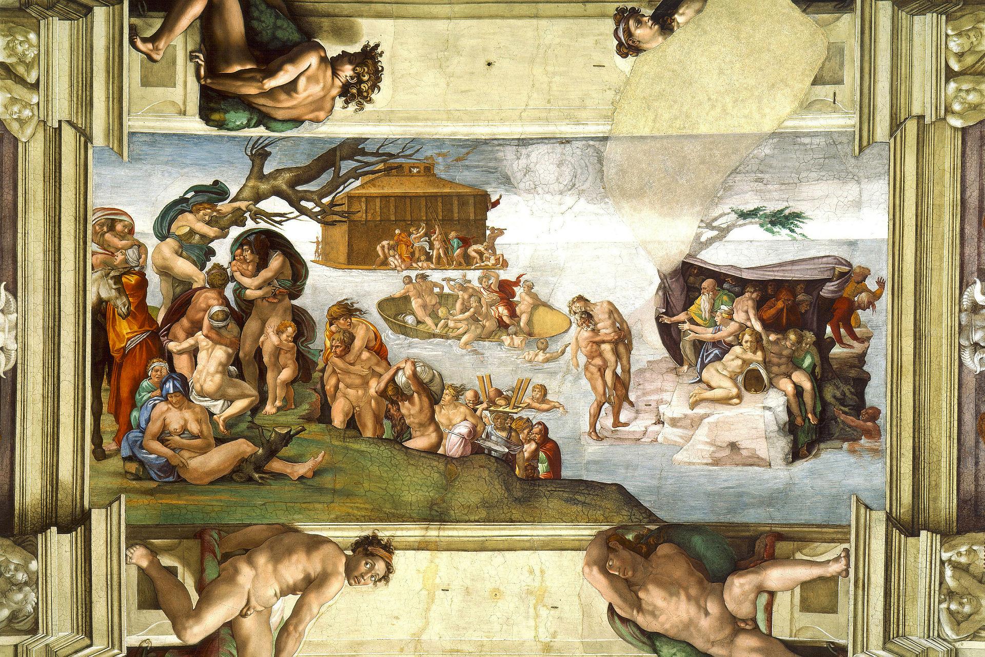 Existi realmente el diluvio universal for Donde esta el mural de adan zapata