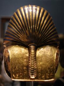 parte trasera máscara tutankhamón