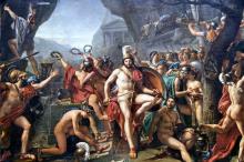 Léonidas aux Thermopyles