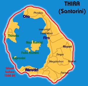 santorini volcán thera