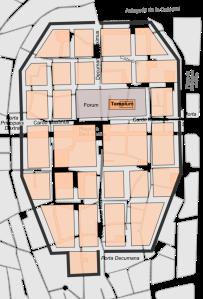 Barcelona romana plano