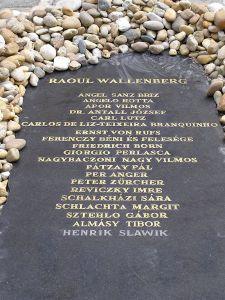 El monumento de los Justos entre las Naciones, en el parque Raoul Wallenberg(Budapest)
