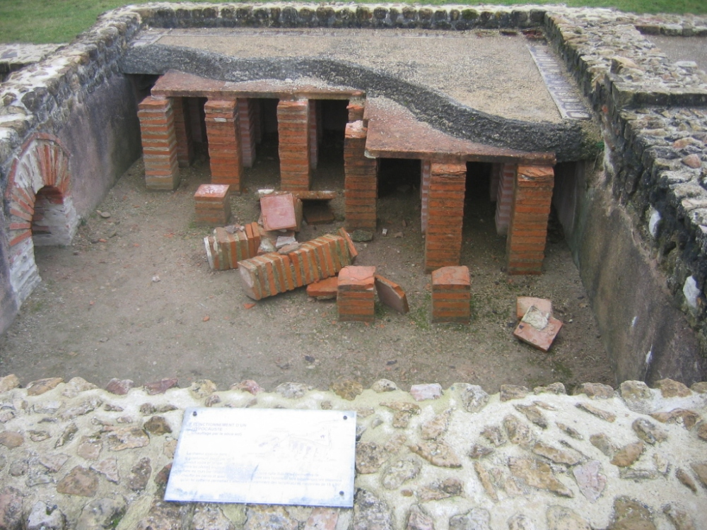 Villa gallo-romaine de Vieux-la-Romaine, près de Caen, Baja Normandía , Francia.