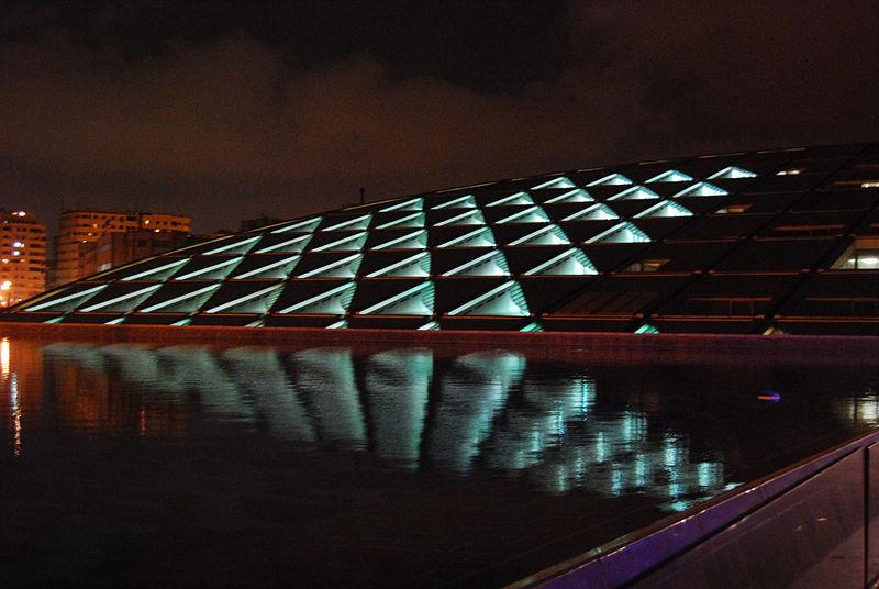 Biblioteca de Alejandría por la noche