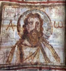 Cristo barbado, Catacumba de Comodila, Roma, final siglo IV.