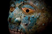 Máscara azteca en el Museo Británico