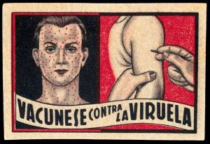 (Left)_face_of_a_man_suffering_from_smallpox;_(right)_vaccin_Wellcome_L0027419