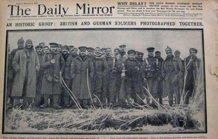 navidad primera guerra mundial soldados
