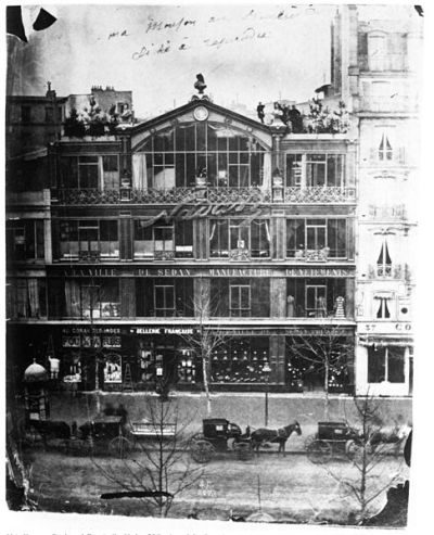 Estudio de Nadar en el Boulevard des Capucines de París, 1860.