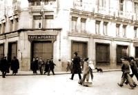 Café de Fornos en Madrid (1908) Situado en la calle Alcalá, esquina a la calle Peligros. En la actualidad hay un Starbucks. Haz clic en la imagen para ampliarla.