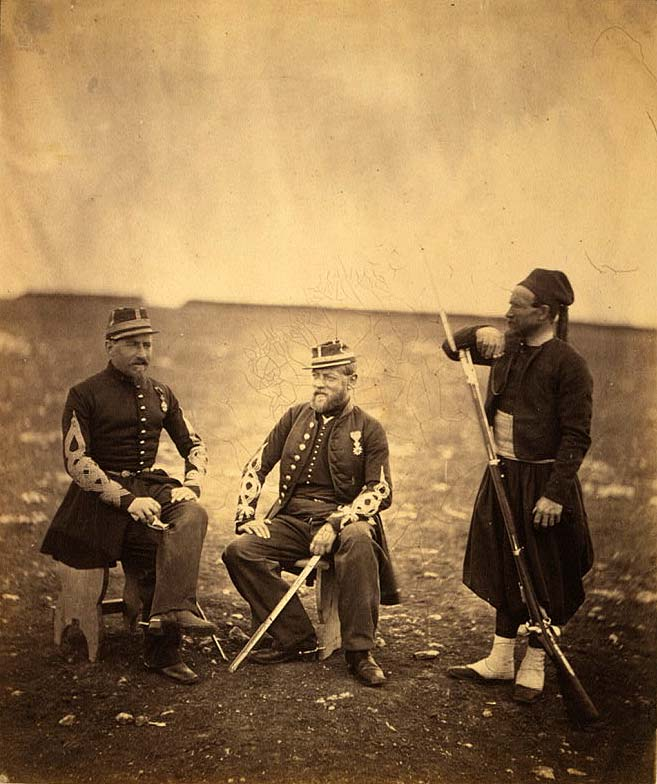 Two_French_Zouaves_officers_and_one_private_in_1855