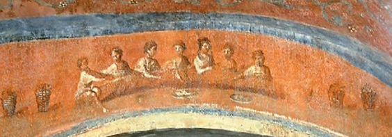 fresco ceremonia catacumba santa priscila