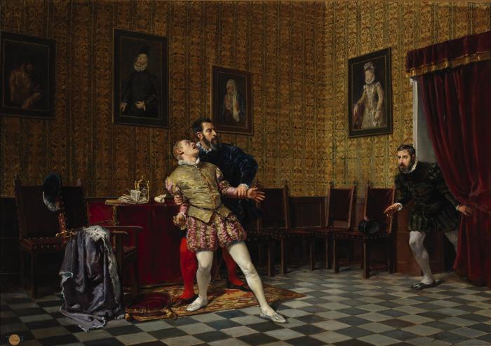El príncipe Don Carlos y el duque de Alba UrÍA
