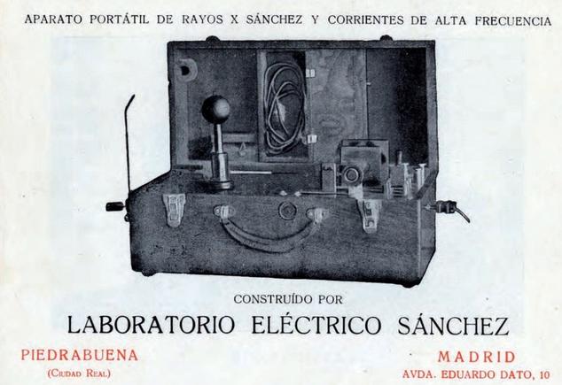 Aparato de rayos X portatil de Monico Sanchez