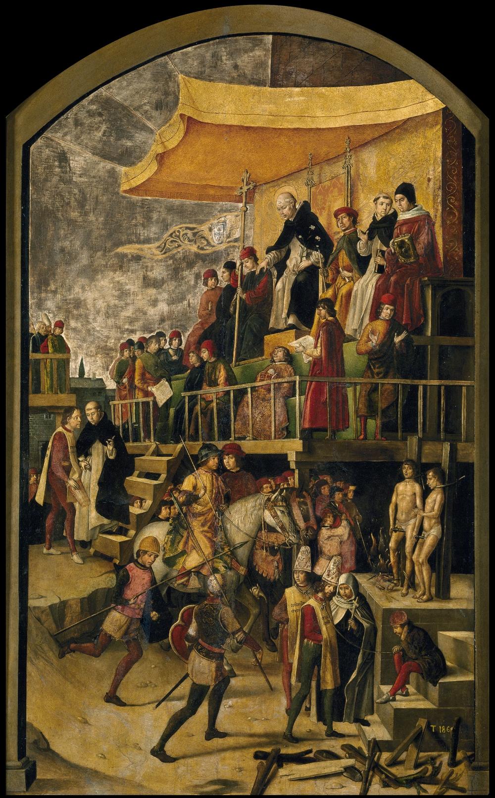 pedro_berruguete_saint_dominic_presiding_over_an_auto-da-fe_1495