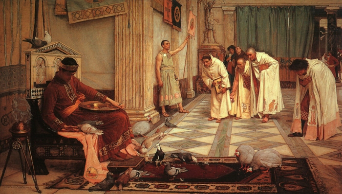 john_william_waterhouse_-_the_favorites_of_the_emperor_honorius_-_1883