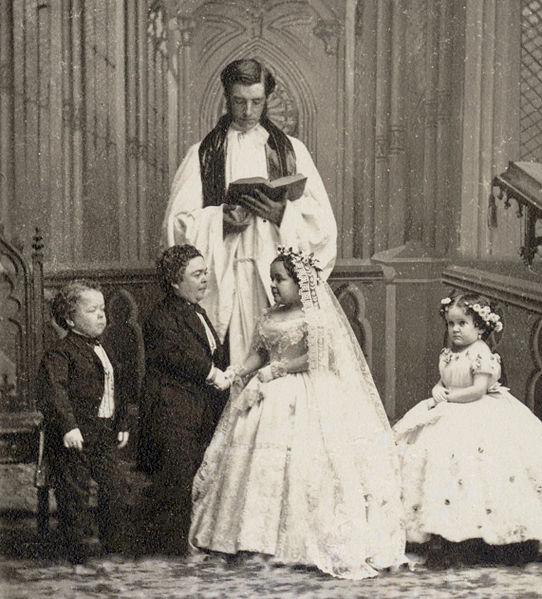 charles sherwood stratton_and_lavinia_warren_marriage