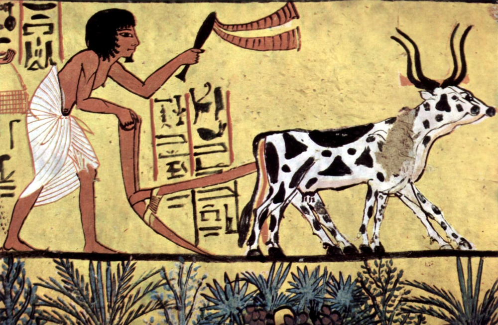 Pintura de la tumba de Sennedyem.