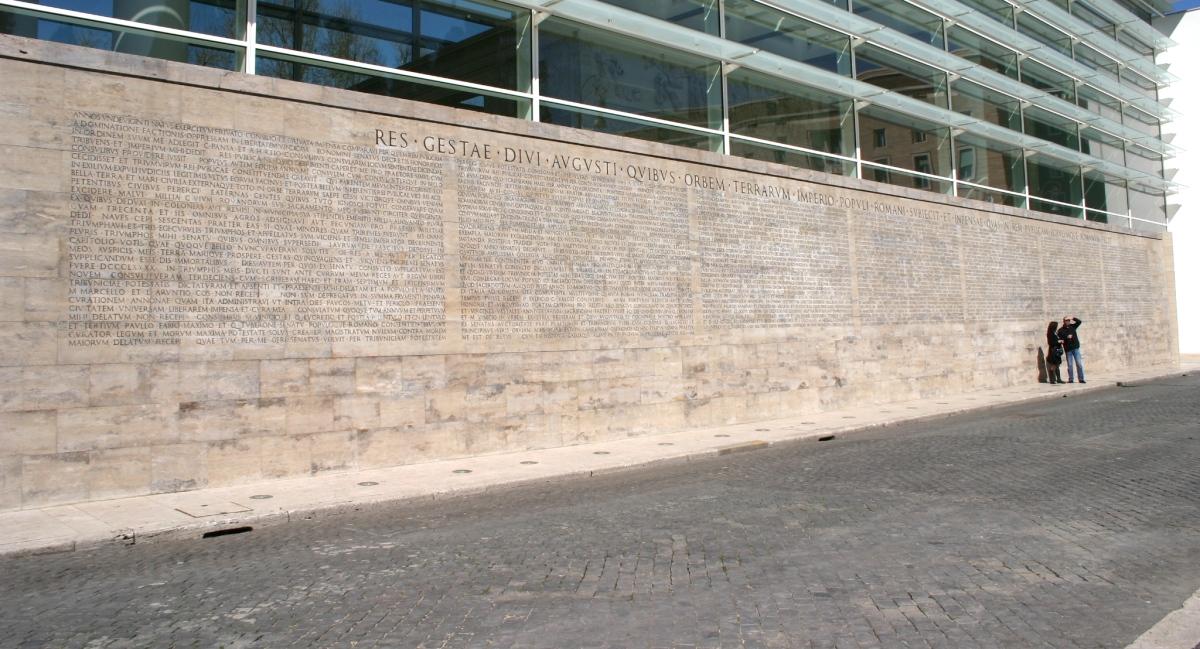 El largo epitafio del emperador augusto - Res gestae divi augusti ...