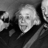 ... y Einstein sacó la lengua