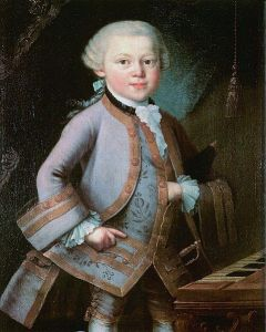 Anònim, possibly by Pietro Antonio Lorenzoni (1721-1782) The Boy Mozart (1763)