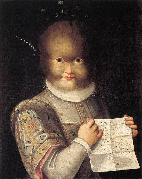 Retrato de Antonietta Gonzalez .Óleo sobre lienzo – 57 x 46 cm Actualmente se encuentra en el Musée du Chateau, Blois.
