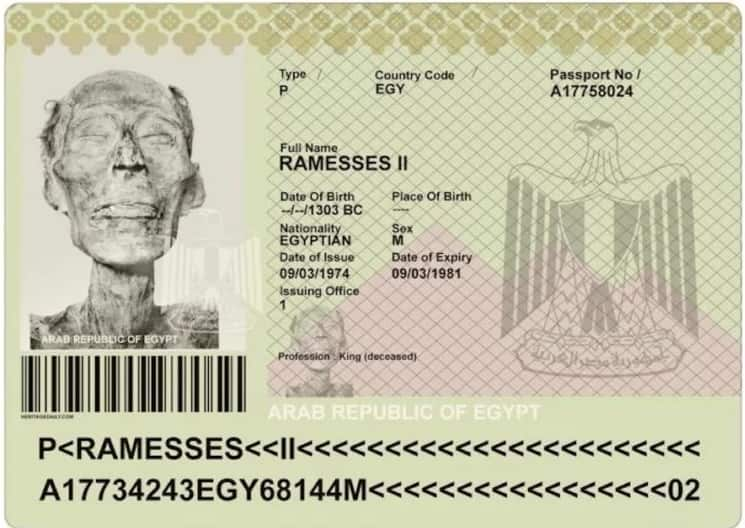 Pasaporte de Ramses II
