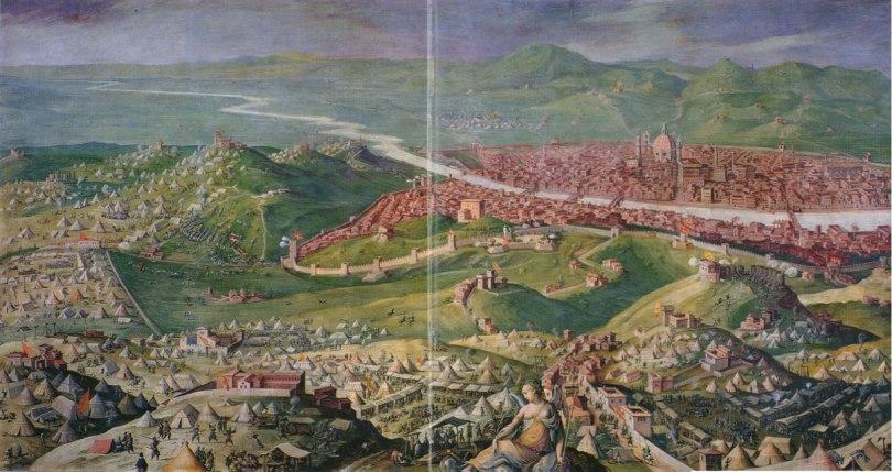 Asedio de Florencia (fresco de Vasari y Stradano, 1558)