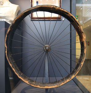 Primer neumático de Dunlop. Actualmente expuesto en el museo